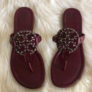 New Tory Burch Miller embellished sandals 7
